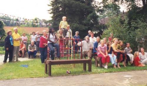 Het publiek op het feest