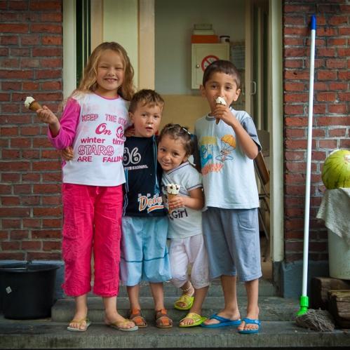 ZIna, Tarik, Beatrix en Mohammed