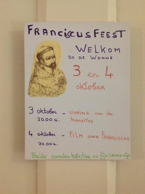 Franciscusviering - welkom