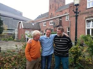 Coos, Willem en Machiel aspirant leden voor de kerngroep